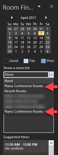 room list 2017